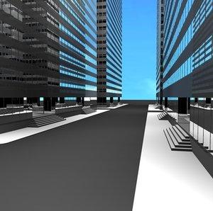 60 buildings skyscrapers 3d model