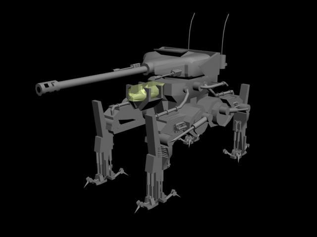 3d model tank future
