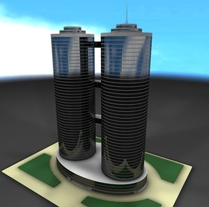 3d model office skyscraper