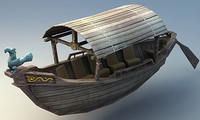 wooden boat 3ds