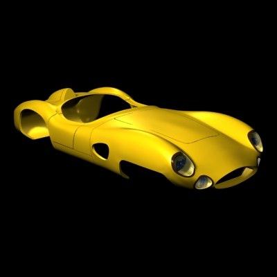 race car 1950s lemans 3d max