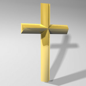 3d cross christian symbol