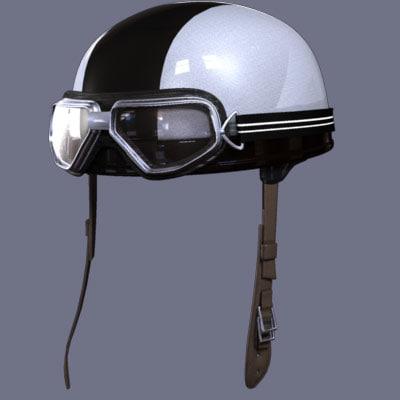 motorcycle helmet goggles 3d model