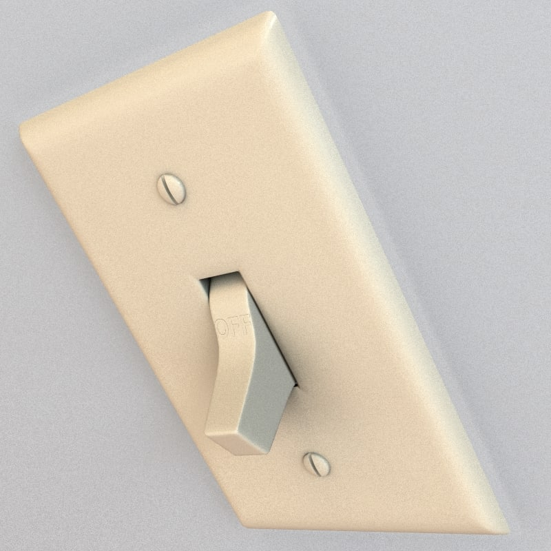 3d electrical switch model