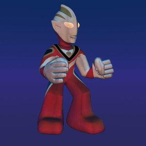 3d character ultraman model