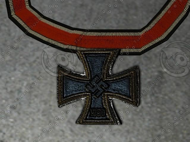 german wwii iron cross 3d model