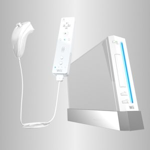 3ds max nintendo wii console controllers