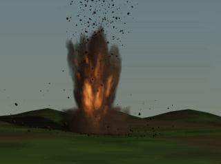 3d model mortar explosion