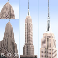 empire state building city 3d model