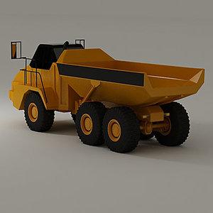 3d dump truck industrial