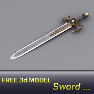 free ing sword 3d model
