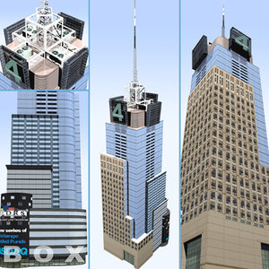 conde nast building city 3d model