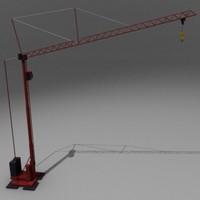 3d model crane potain hdt
