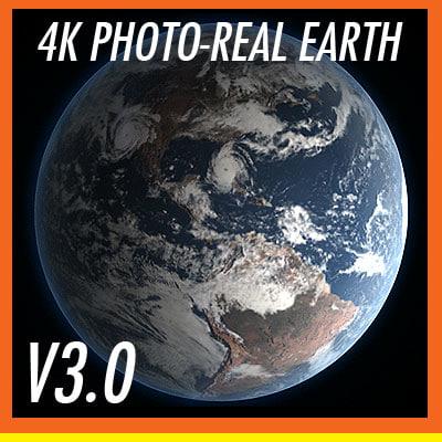 maya 4k earth