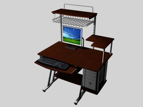 3d model workstation desk