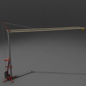 potain igo construction crane 3d model