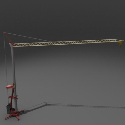 potain igo construction crane 3d model