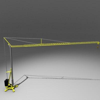 construction crane 3d model