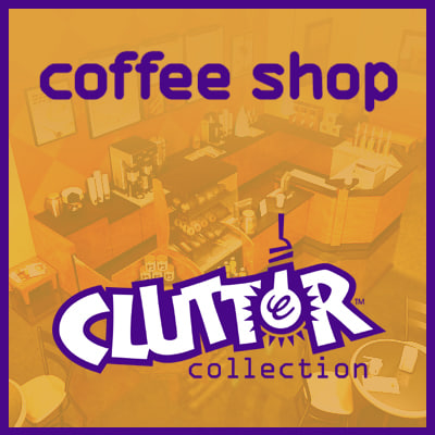 coffee shop clutter 3d model
