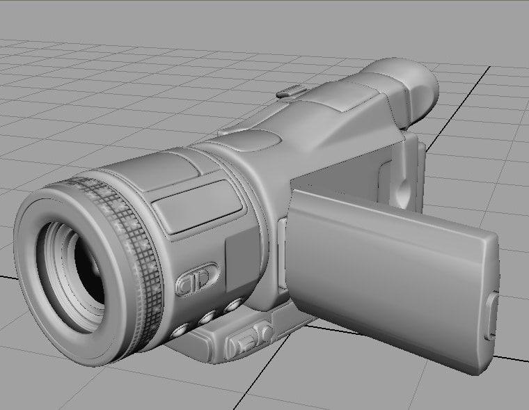 digital camcorder 3d model