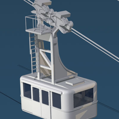 aerial cableway wagons dxf
