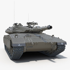 3d idf battle tank merkava
