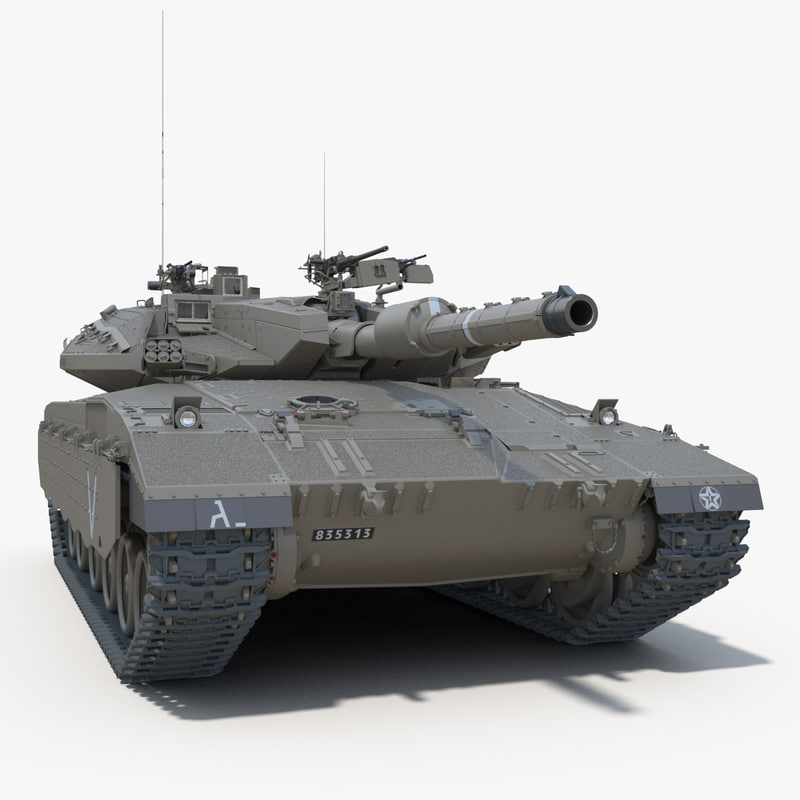 3d idf battle tank merkava