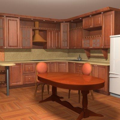 3d kitchen house model