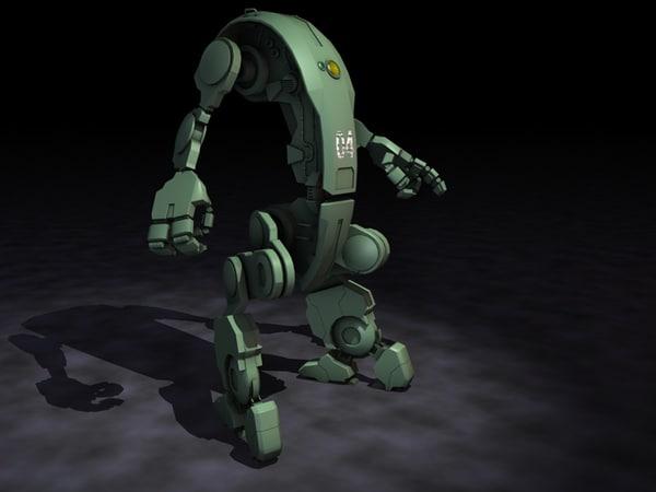 c4d mecha droid