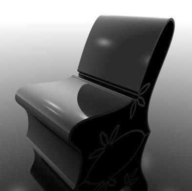 3d model floor chair