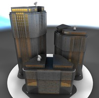 3ds max office tower