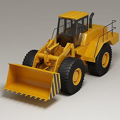 3d large wheel loader model