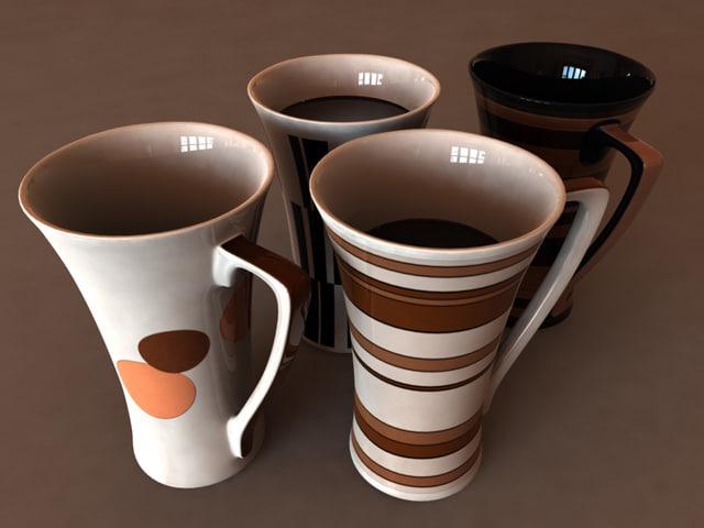 e tea cup 3d model