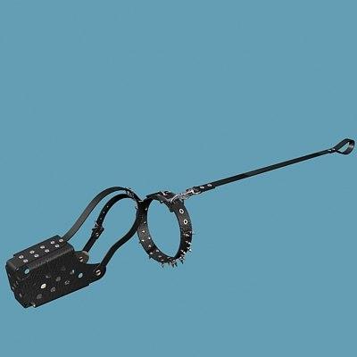 dog collar 3d model