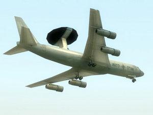 awacs aircraft 3ds