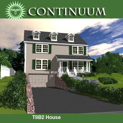 3d model house yard