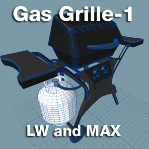 3d model gas grille
