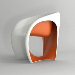 mt1 armchair 3d model