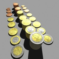 3ds max euro coins