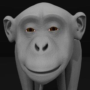 chimpanzee monkey 3d 3ds