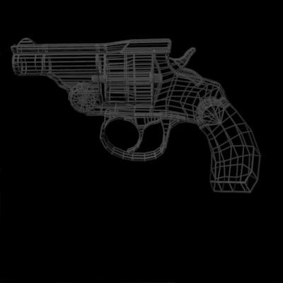32 calibre revolver 3d model