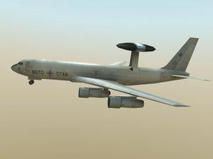 awacs aircraft multi 3d xsi