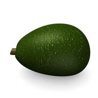 3d 3ds avocado fruit