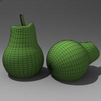 3d fruit pear model