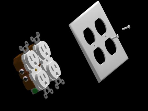 electrical receptacles wallplates 3ds