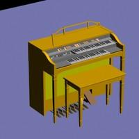 piano organ 3d model
