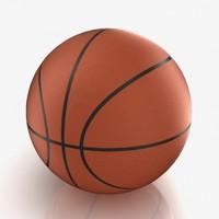 3d basketball ball model