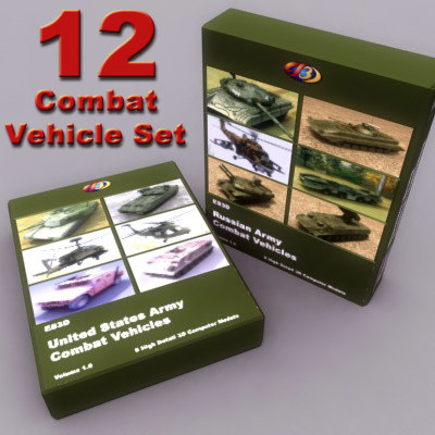 3d russian army vehicle military model
