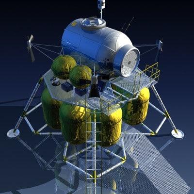 nasa lunar surface access 3d model