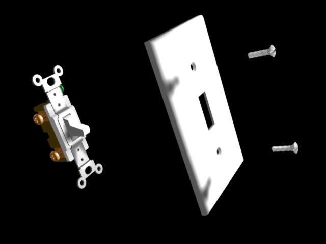 3d model light switch